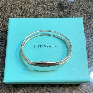 Tiffany and Co. Silver Oval ID Tag Dbl Bracelet